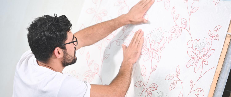 Gewerbliche Mitarbeiter Arbeitsalltag Wandbeschichtung temps