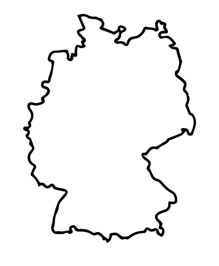 temps Karte Standorte Deutschland