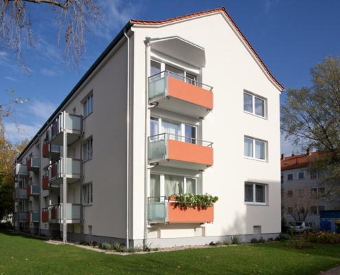 Wohngebäude Hannover, Magdeburger Straße, Seitenansicht