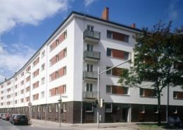 WG Gartenheim Kopernikusstraße Fassade temps